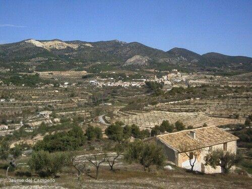 Serra dels Plans des de la Foia