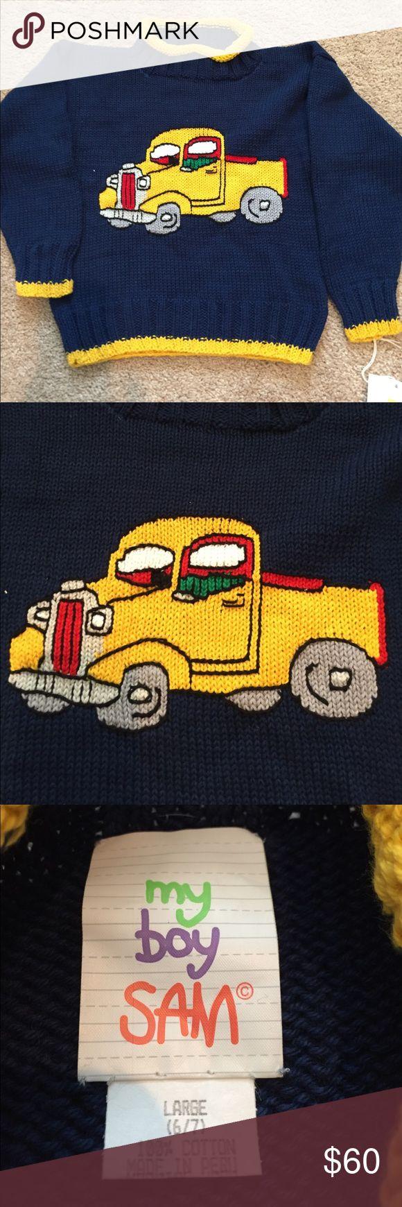 New pickup truck sweater Kids sweater 💯% cotton My Boy Sam Shirts & Tops Sweaters