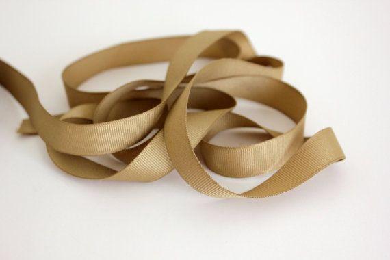5/8 Grosgrain Ribbon Khaki by CreativeTrims on Etsy