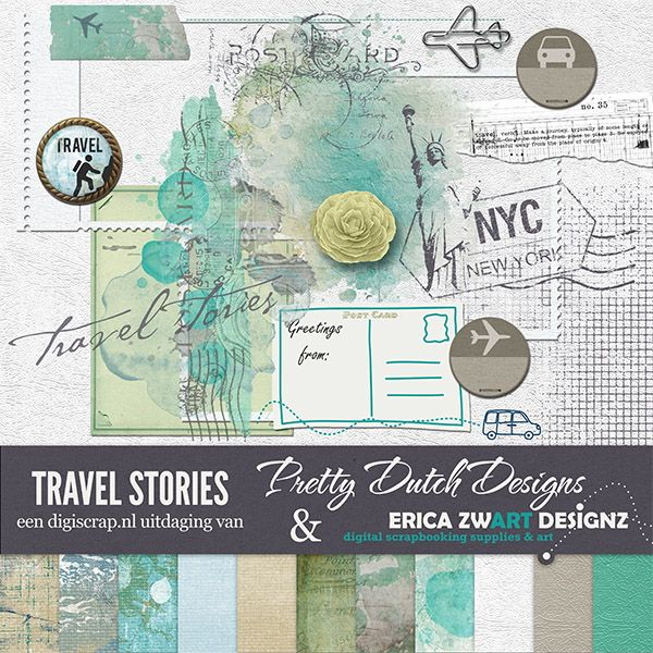 Digiscrap Uitdaging augustus-september 2014 -Travel Stories - Digiscrap Digitaal scrappen