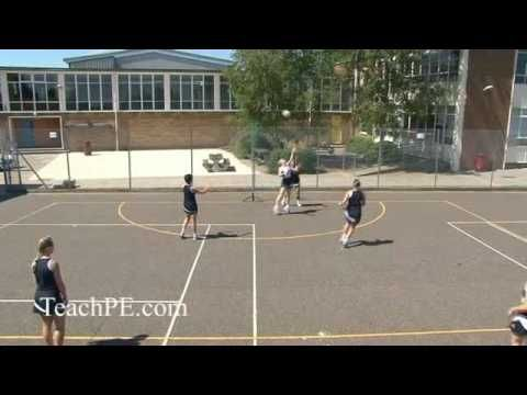 Netball Drill - Attack - Feed to Shooter - Circle Edge Drive
