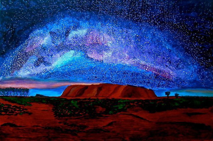 #ArtSetFree-Uluru,NT,Australia under Star Lit Canopy.