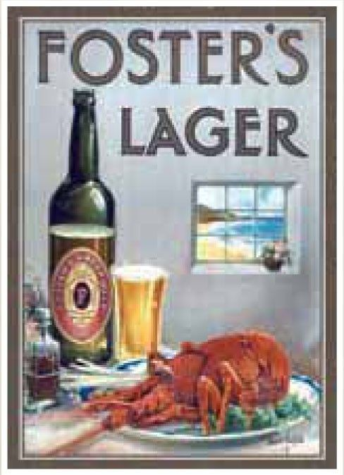 Fosters Crayfish Tin Sign $44.9 (AUD) | FREE Delivery