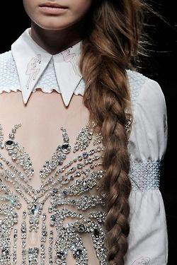 Embellished Top: Miumiu, Details, Style, Collar, Miu Miu, Hair, Haute Couture