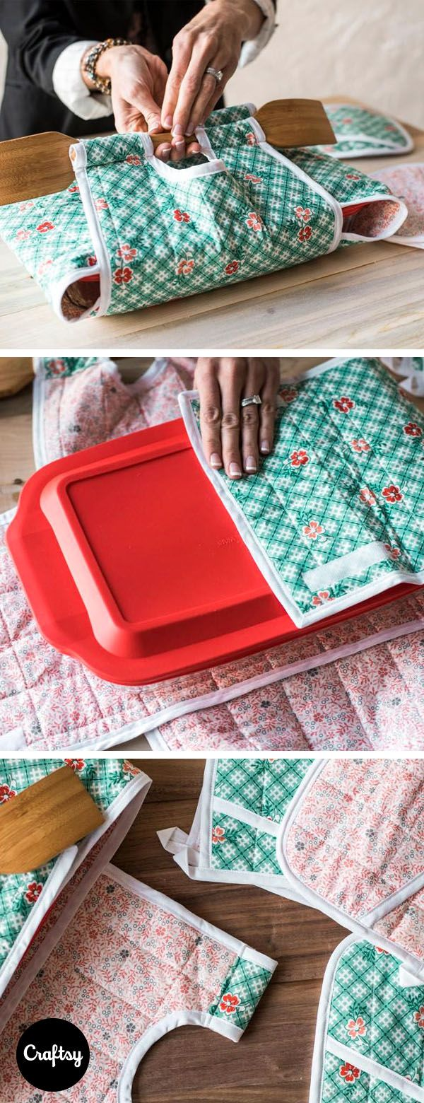 File this under a must-do project! The Indygo Junction Casserole Kit includes the fabric and pattern you need to create an insulated casserole tote. Plus, get the instructions to create a matching potholder!