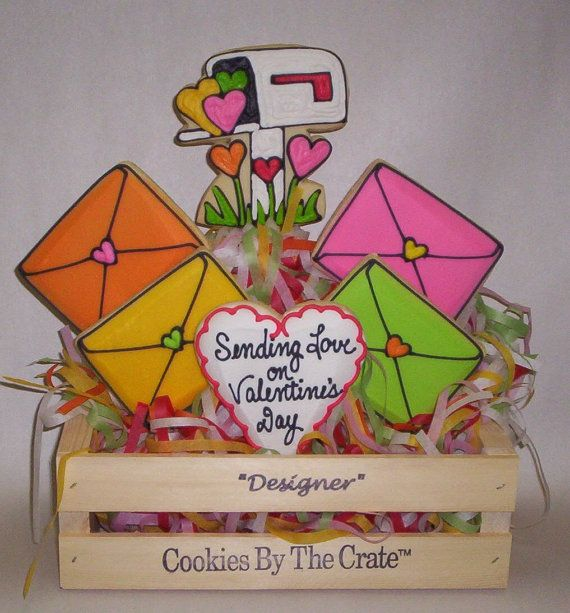 Valentine's Cookie Gift by ClawsonCookies on Etsy, $45.50