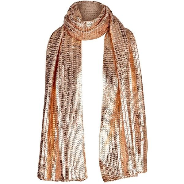 V By Very Metallic Scarf ($19) ❤ liked on Polyvore featuring accessories, scarves, metallic scarves and metallic shawl
