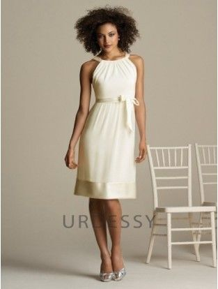 Elegant A-Line Sleeveless Scoop Ivory Bridesmaids Dresses Amita Marie Youn af07723f97c1
