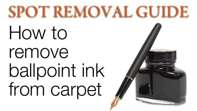 How to get ink stains out of carpet(an overall guide for EVERY single kind of spot!)
