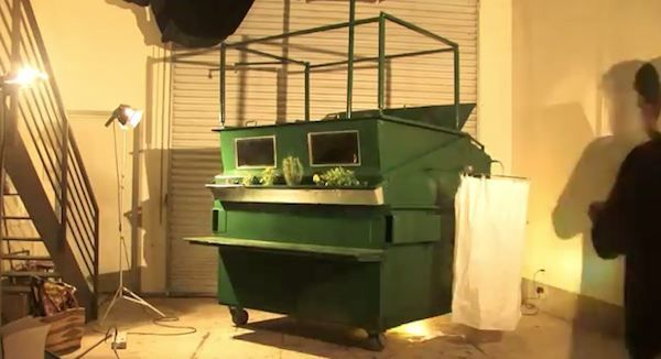 luxurious garbage tiny house 04   Man Turns Garbage Container into Micro Home