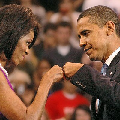 Image result for fist bump barack obama michelle