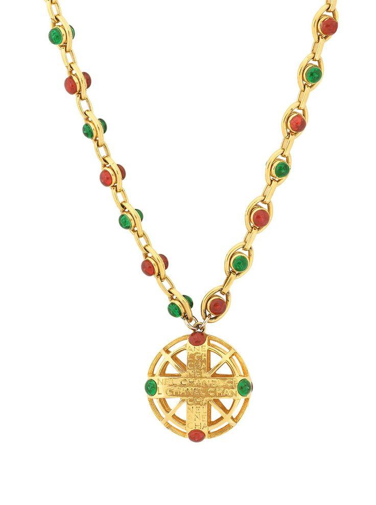 Vintage Chanel Open Cross Pendant Necklace
