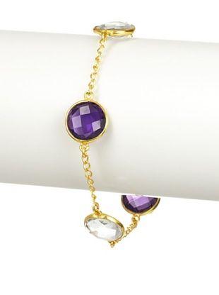 Saachi Amethyst and Clear Quartz Bracelet