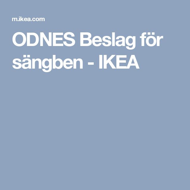 ODNES Beslag för sängben - IKEA