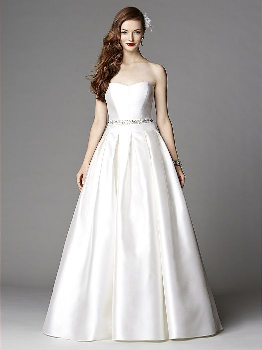 After Six 1046 Sa Tweel With An Embroidered Rhinestone Belt And Sweetheart Neckline
