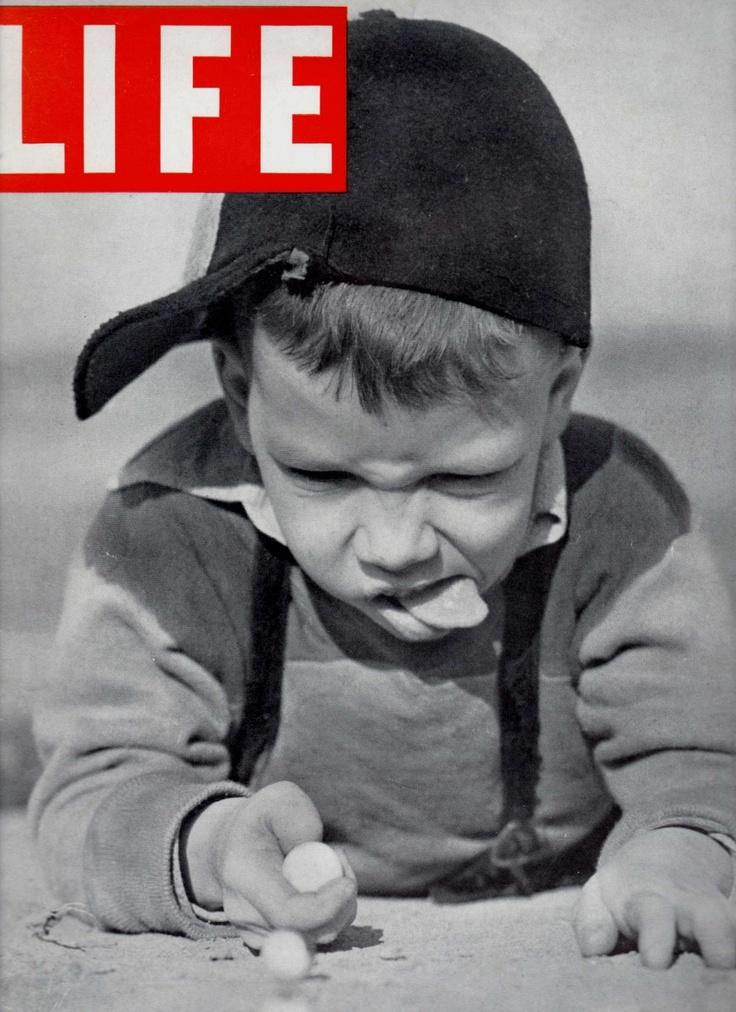 1937 LIFE Magazine Playing Marbles, Muncie Indiana.