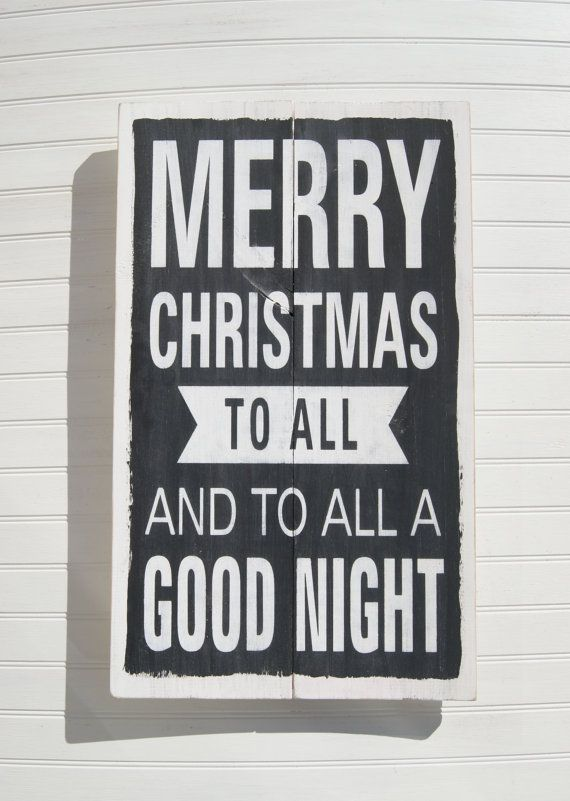 Merry Christmas Wood Sign Holiday Sign Christmas by CraftCrazedMom