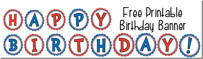 free printable happy birthday sign