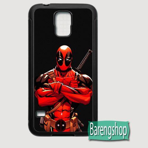 Rubber Case Deadpool Marvel Comics Custom Samsung Galaxy S5 Case