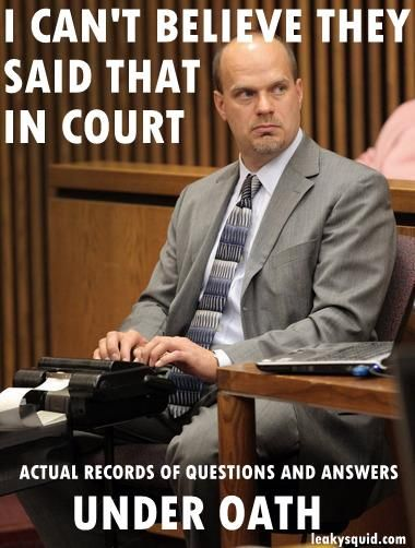 Leaky Squid: COURT RECORDERS HAVE THE BEST JOB - #COMEDYHOUR