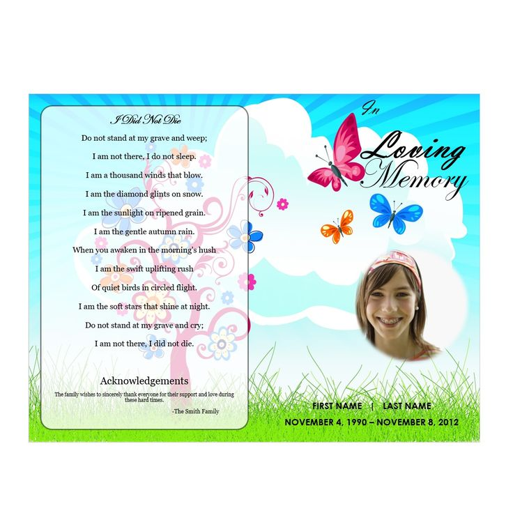 Create an everlasting keepsake of your loved one Edit the template easy Print-Ready (Borderless, 8.5 x 11 Paper) For Microsoft Word(FREE TRIAL) Expert Support available by E-mail & Phone Download now and start sharing memories in minutes