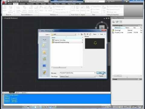Autocad Tutorial; How to use Xrefs - external references - YouTube