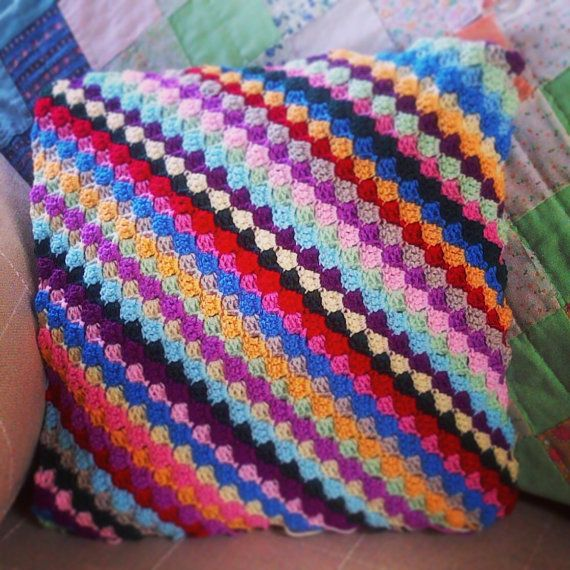Dizzy Diagonal Pillow by NotYourGrannies on Etsy