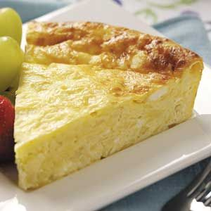 Real moms eat quiche -- like this contest-winning, crustless, four-cheese variety. Yum!