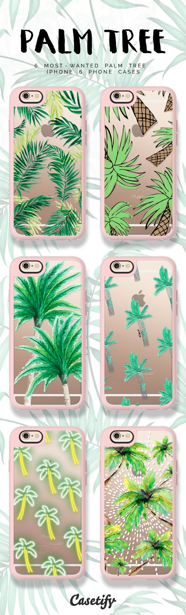 Top 6 palm trees iPhone 6 phone case designs | Click through to see more protective iPhone phone case ideas >>> https://www.casetify.com/artworks/CafRr3Y5Jy #gardenart | @casetify
