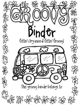groovy themed classroom | Groovy 60s themed communication binder/folder covers - Rachel Lamb ...