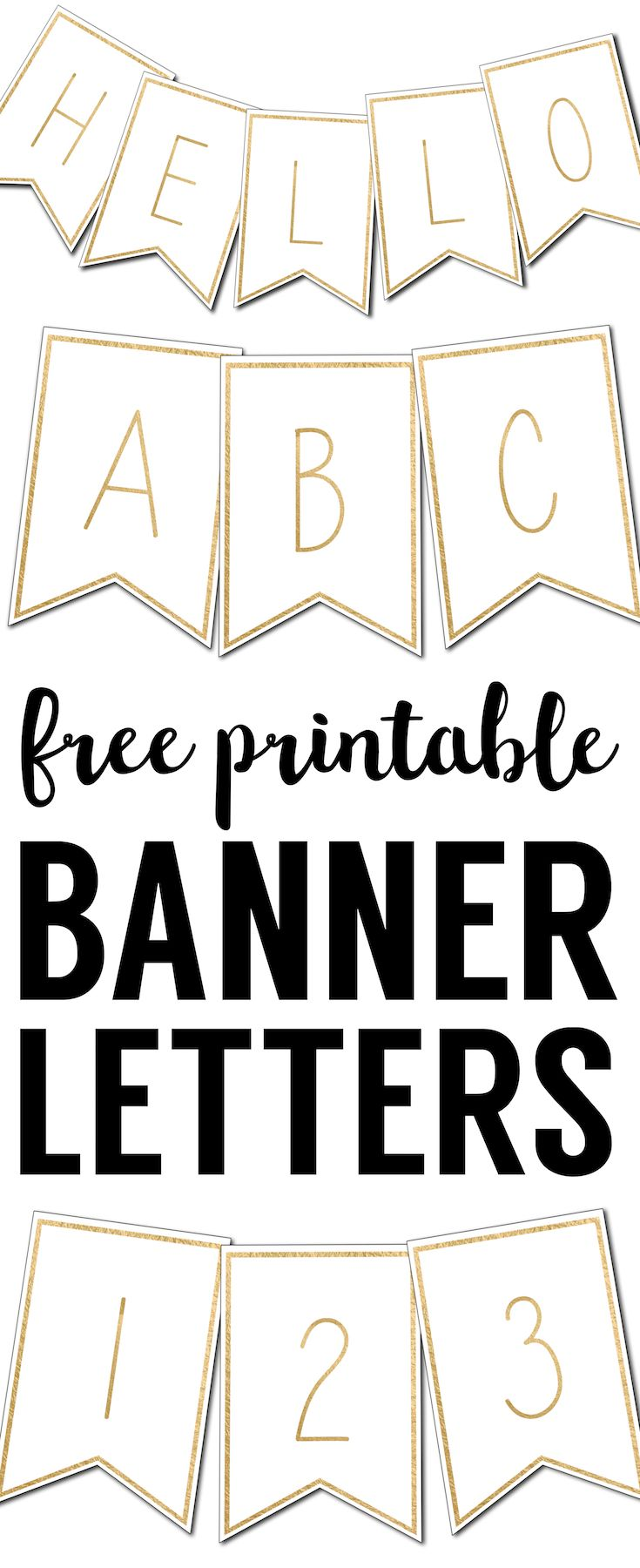 Free Printable Banner Letters Templates For My Inner Craftster