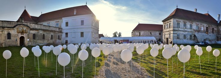 we had a project at Bontida Castle , near Cluj Napoca . we had to do a forrest out of white balloons filled with LEDs. it was super psychedelic.