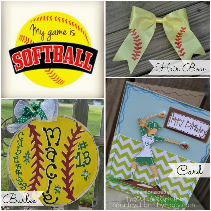 For The Softball Player Projects | Country Charm By Tracy
