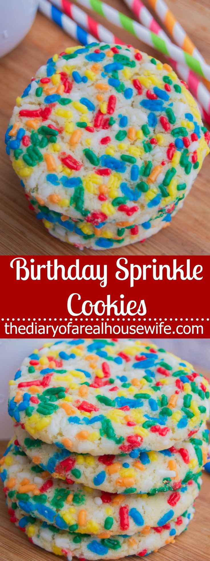 These Birthday Sprinkle Cookie are the perfect addition to any celebration with their colorful sprinkles and ease of preparation you can't go wrong.