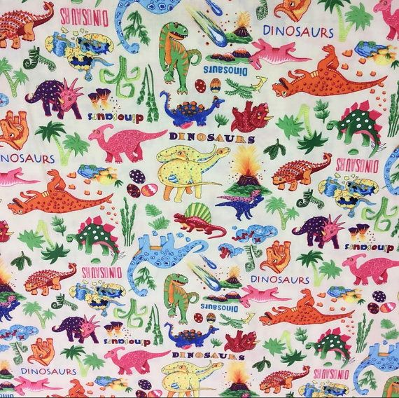 181 best images about dinosaur on pinterest iron on for Baby dinosaur fabric