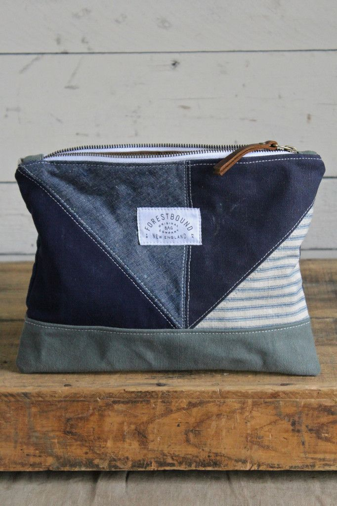 1940's era Quilted Denim and Canvas Utility Pouch More Mais