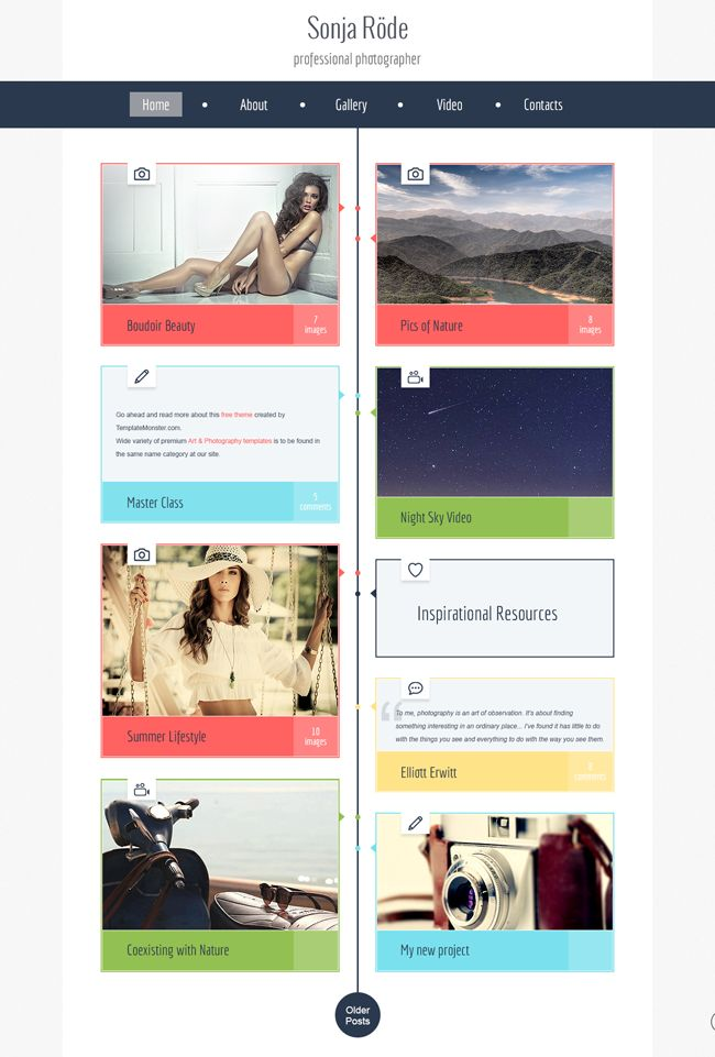 7 best Free Web Template Monster images – Timeline Website Template