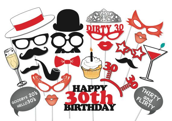 Hey, I found this really awesome Etsy listing at https://www.etsy.com/listing/185047042/30th-birthday-photobooth-party-props-set