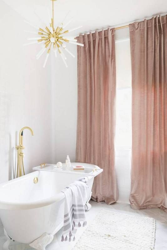 Best 20 velvet curtains ideas on pinterest blue velvet for Bathroom designs pink