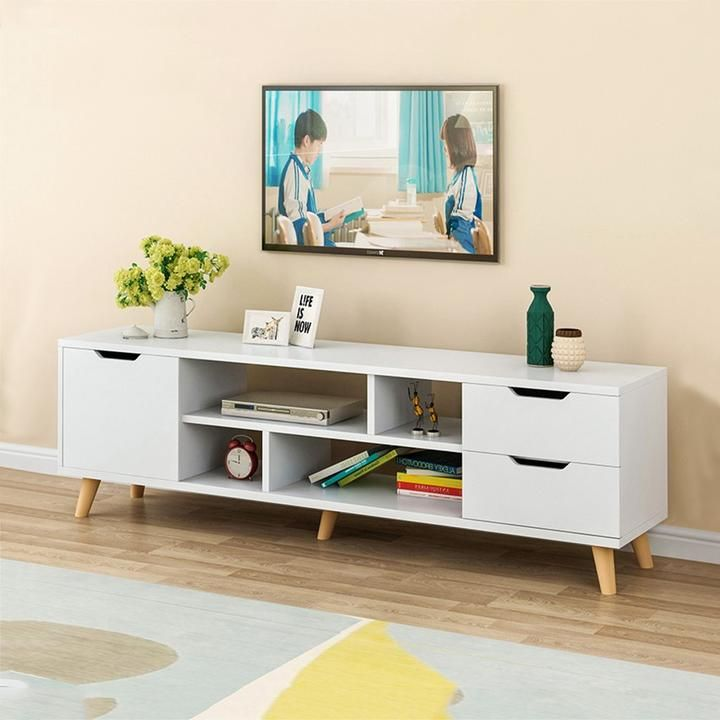 Modern Tv Cabinet Large Desk Coffee Table Television Stands Wooden Living Room Tv Stand With Three Cabinet Furniture For Us Living Room Tv Stand Living Room Entertainment Center Living Room Entertainment