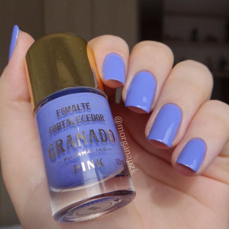 Esmalte Joan da Granado. Unhas violeta. Violet, Lilac nails. Nail art. Nail design. Polishes. Polished. by @morganapzk