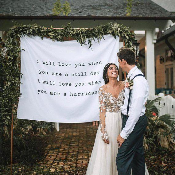Custom Wedding Tapestry Backdrop