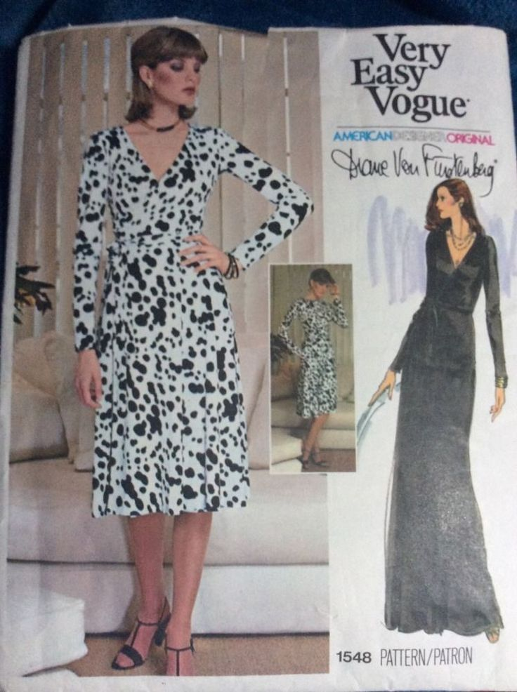 Dvf Wrap Dress Size 14 Vogue DVF Sz new uncut