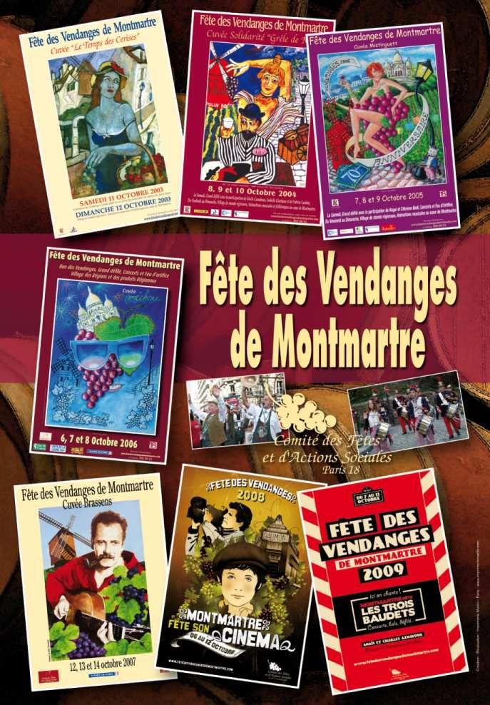 La Fête de Vendanges de Montmartre est une institution depuis 1934. Elle aura lieu le 2ème week end du mois d'octore.