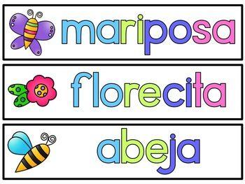 Llega la primavera {Spring fluency activities in Spanish}