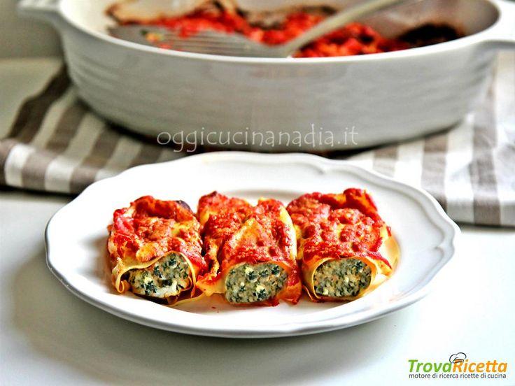Cannelloni con ricotta e spinaci al sugo – ricetta senza besciamella  #ricette #food #recipes