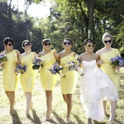 Yellow wedding ideas and one cool bride