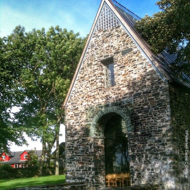 This is Sola ruinkirke built on ruins of a 12th c roman stone church in #sola #regionstavanger