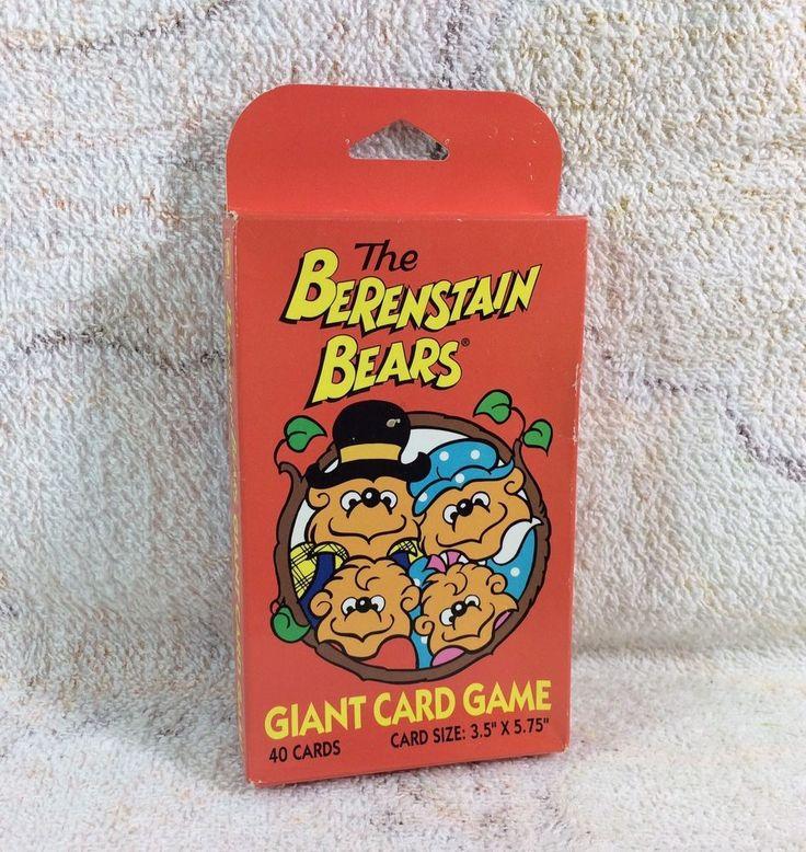 Berenstain Bears Giant Card Game Sealed Unused 1991 Proof Of Mandela Effect | eBay
