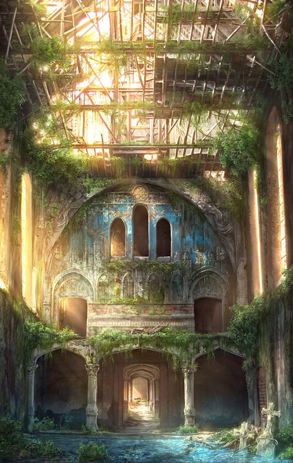Abandoned place by Jonas De Ro~ I've had dreams about this place tho I've never seen it before today